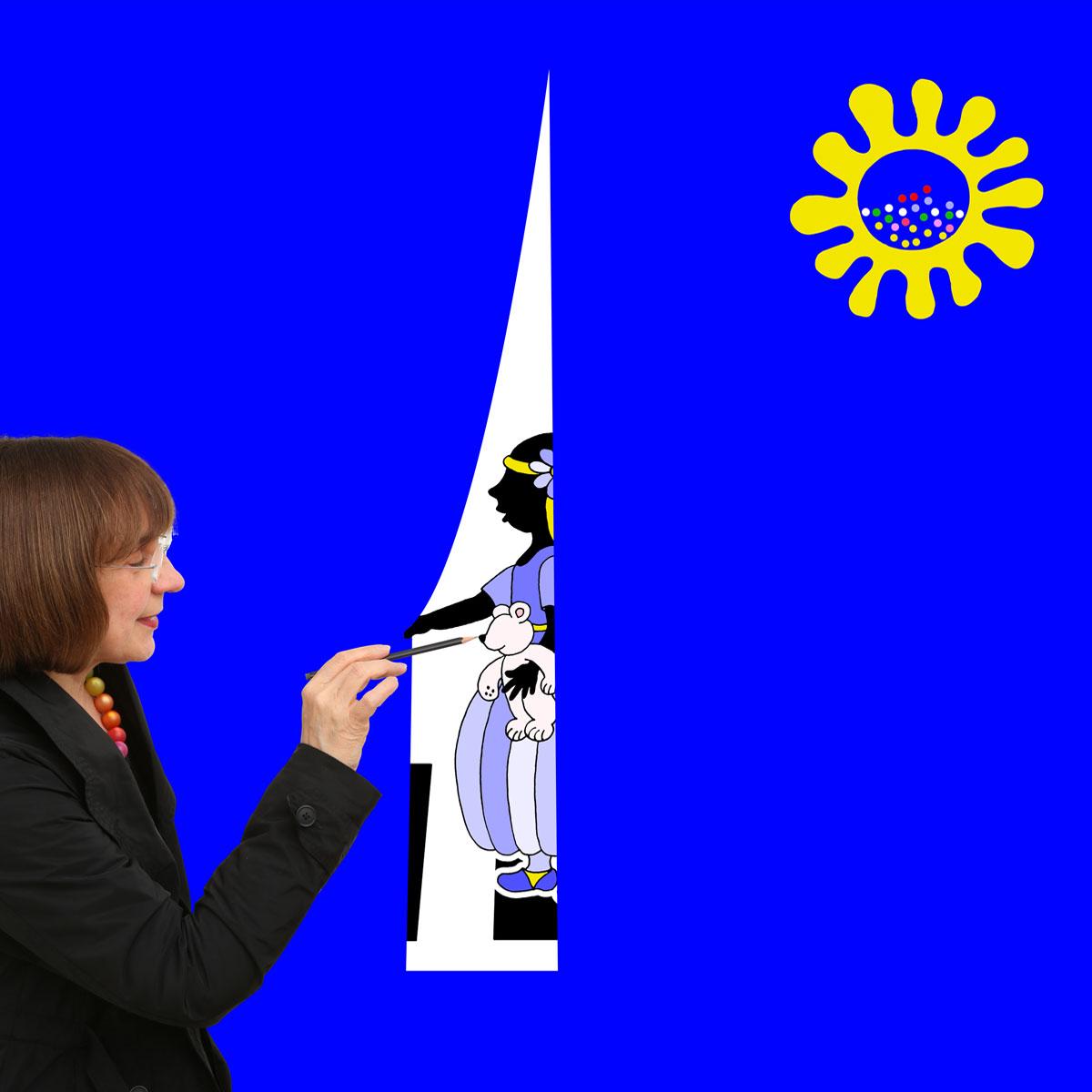 Doris Gutermuth mit Schneewittchen